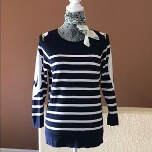 Crown & Ivy Swan Striped Sweater